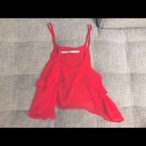 LF Pippa Lynn Small Red Pink Crop Top Tank S XS 2